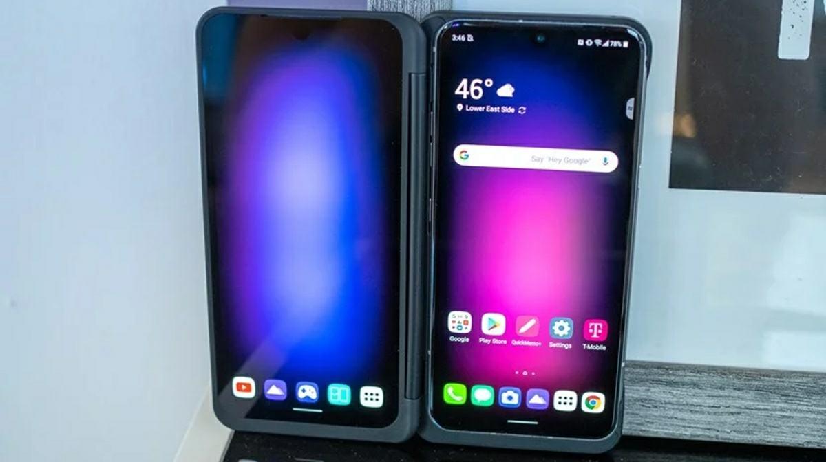 lg v60 diseno y pantalla secundaria