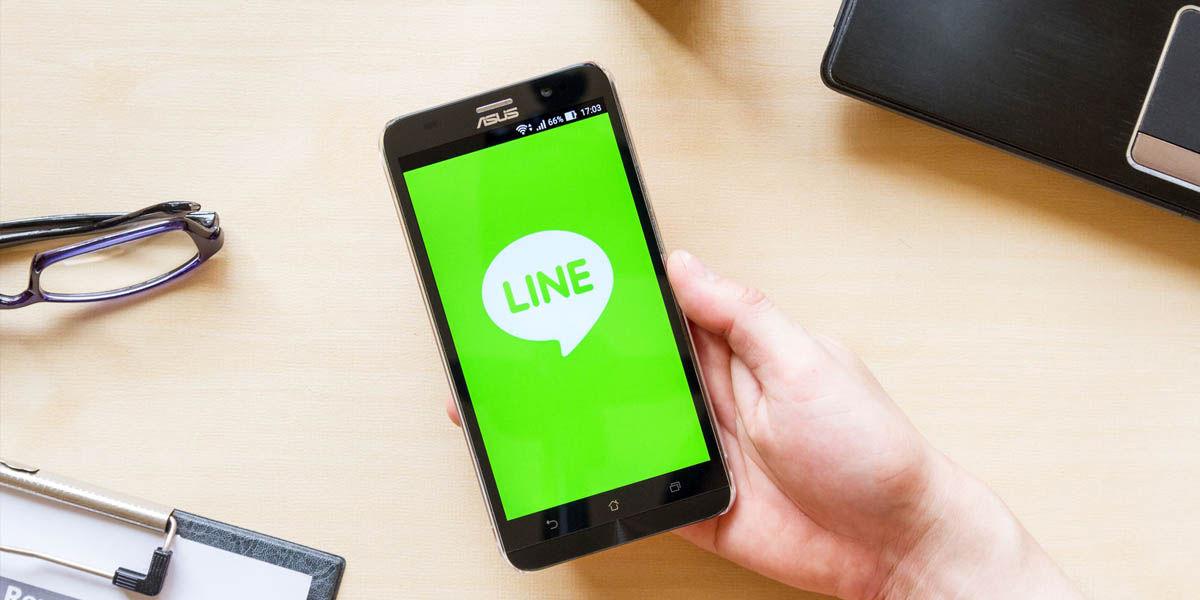 line mensajería con pagos móviles