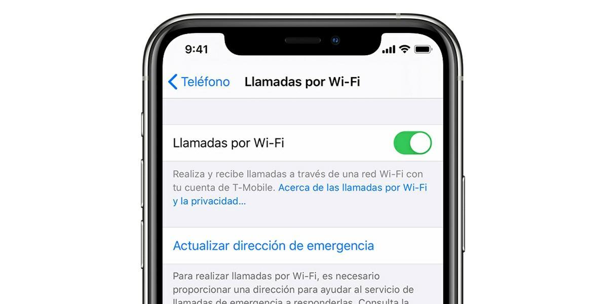 llamadas por wifi iphone ios