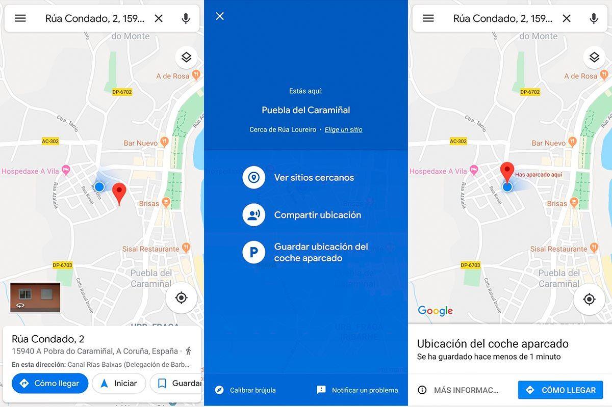 localiza tu coche con google maps