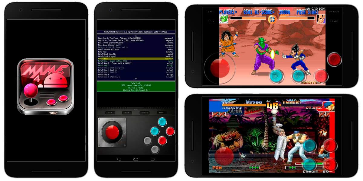 mame4droid mejor emulador recreativas android