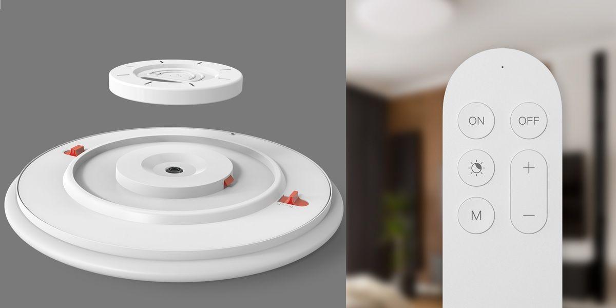 mando y base de lampara de techo yeelight arwen smart led