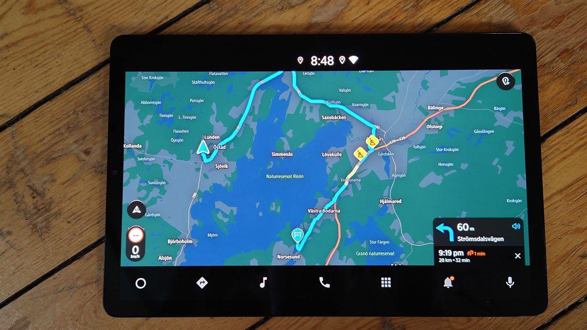Mapa Android Automotive Samsung Galaxy S5e