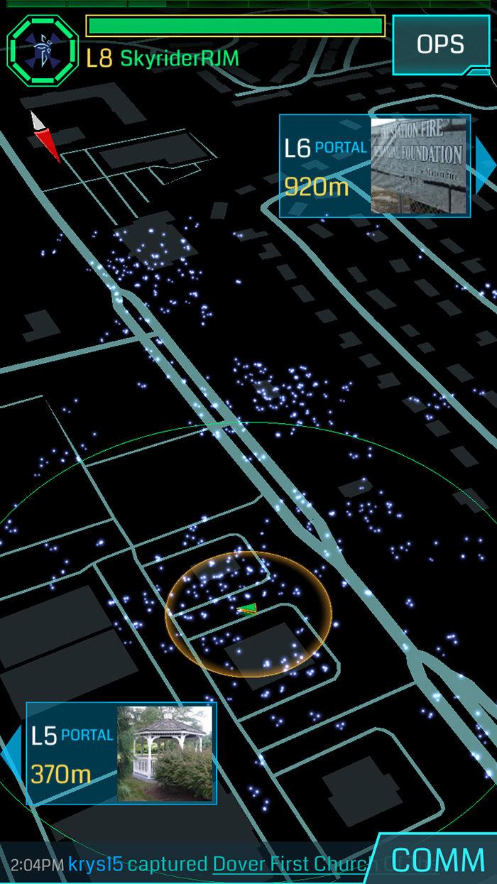 mapa ingress pokemon go