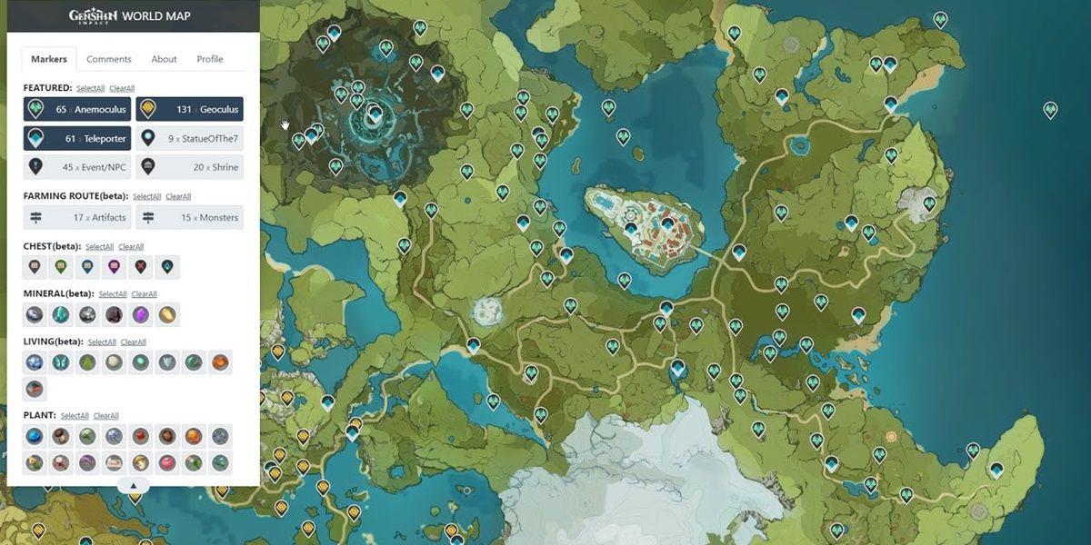 mapa mundial interactivo genshin impact
