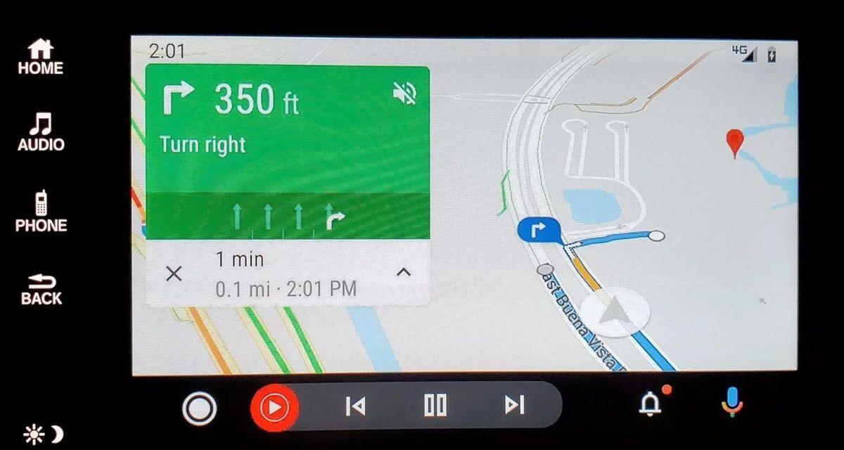 mapa nueva interfaz android auto
