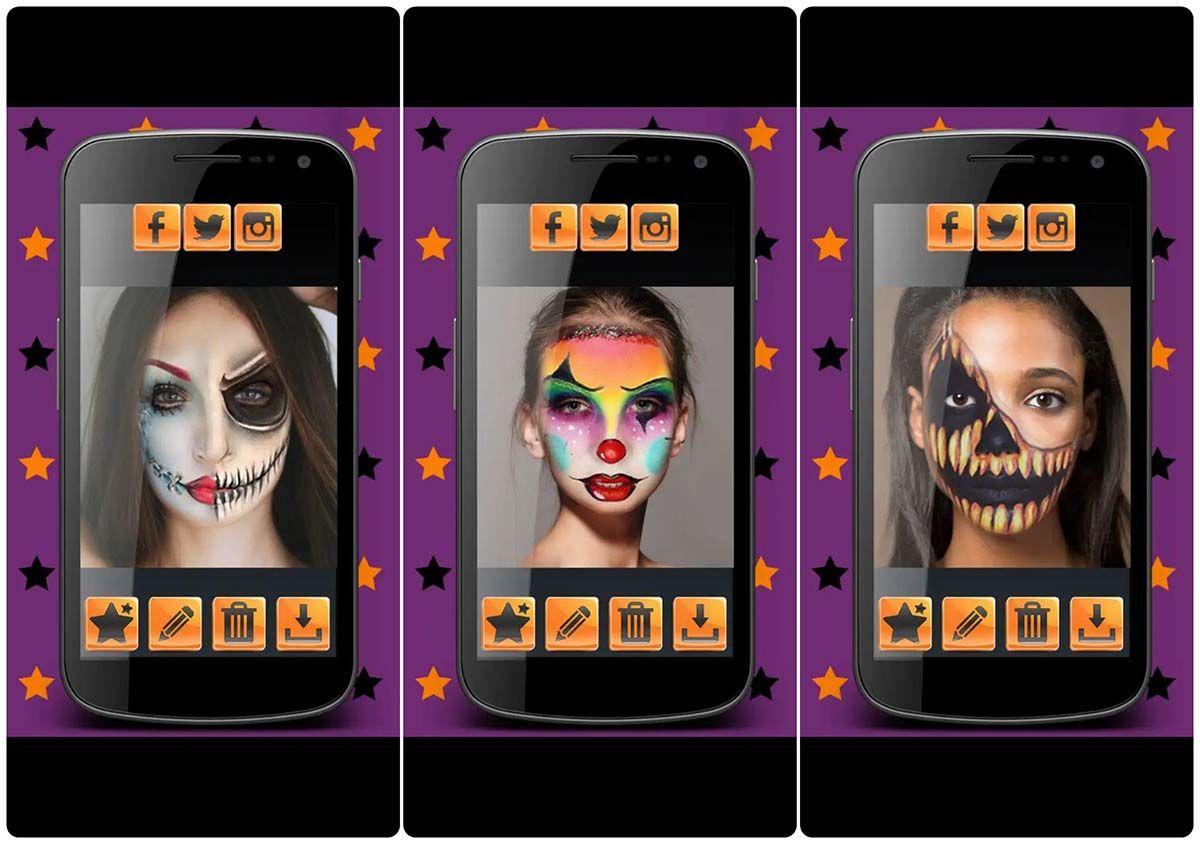 maquillaje de halloween editor de fotos
