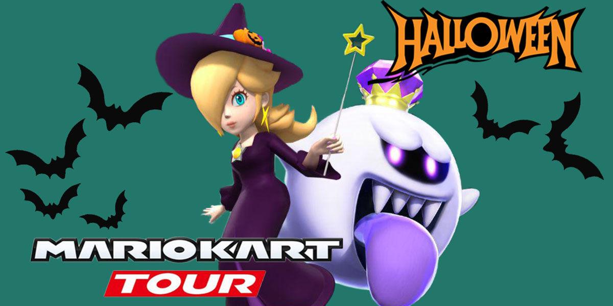 mario kart tour temporada halloween