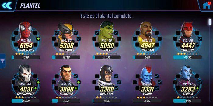 marvel strike force personajes