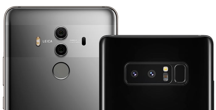 Mate 10 Pro Galaxy Note8 cámaras