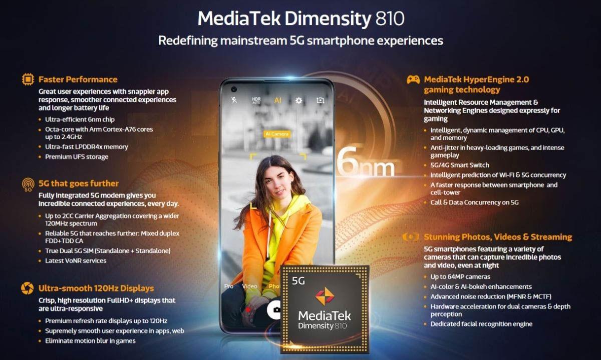 mediatek dimensity 810 características