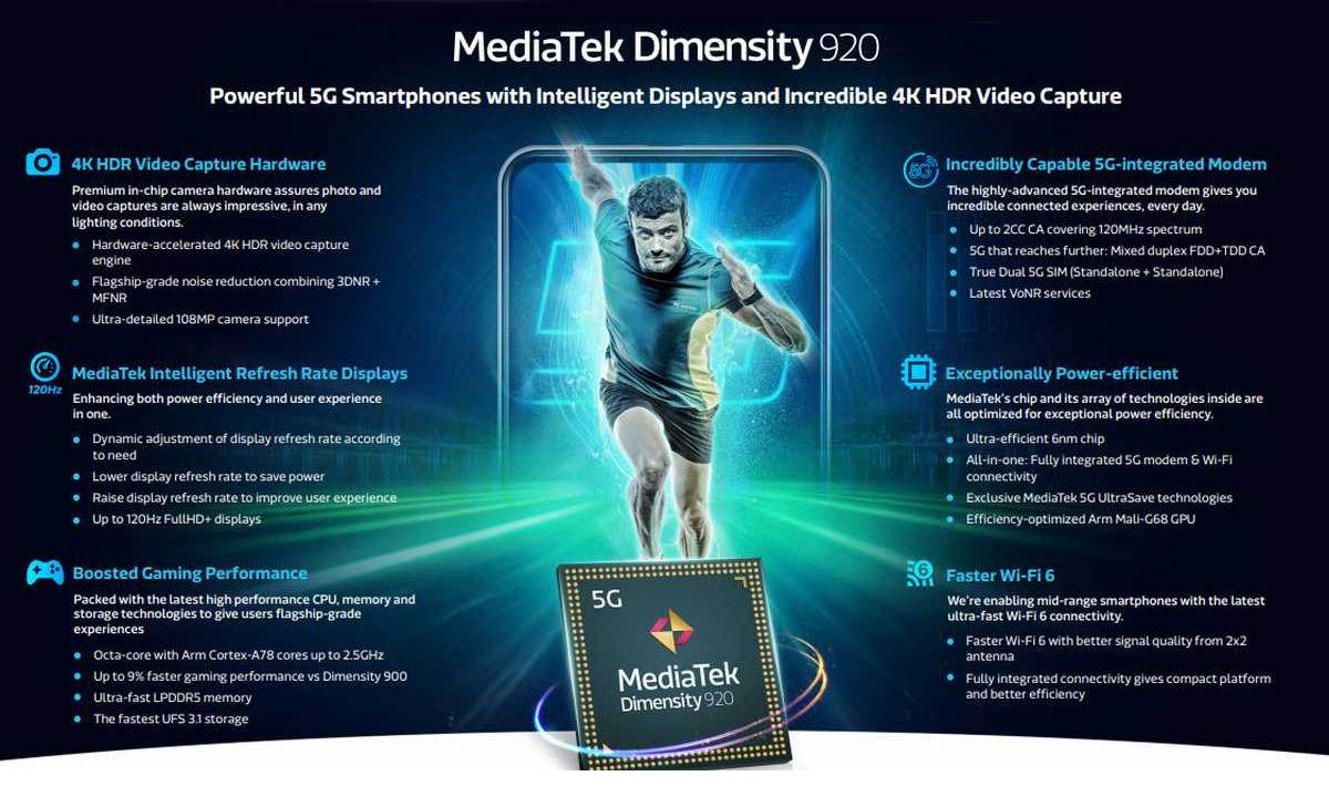 mediatek dimensity 92 características