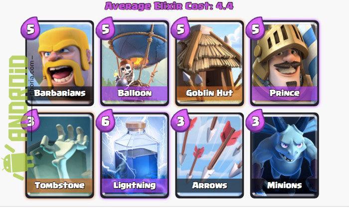 mejores cartas arena 3 clash royale