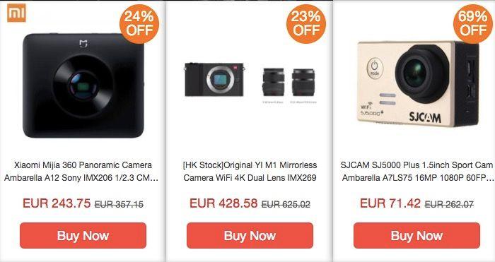 mejores ofertas en cámaras en Geekbuying