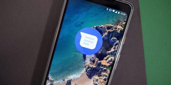 mensajes de android modo oscuro