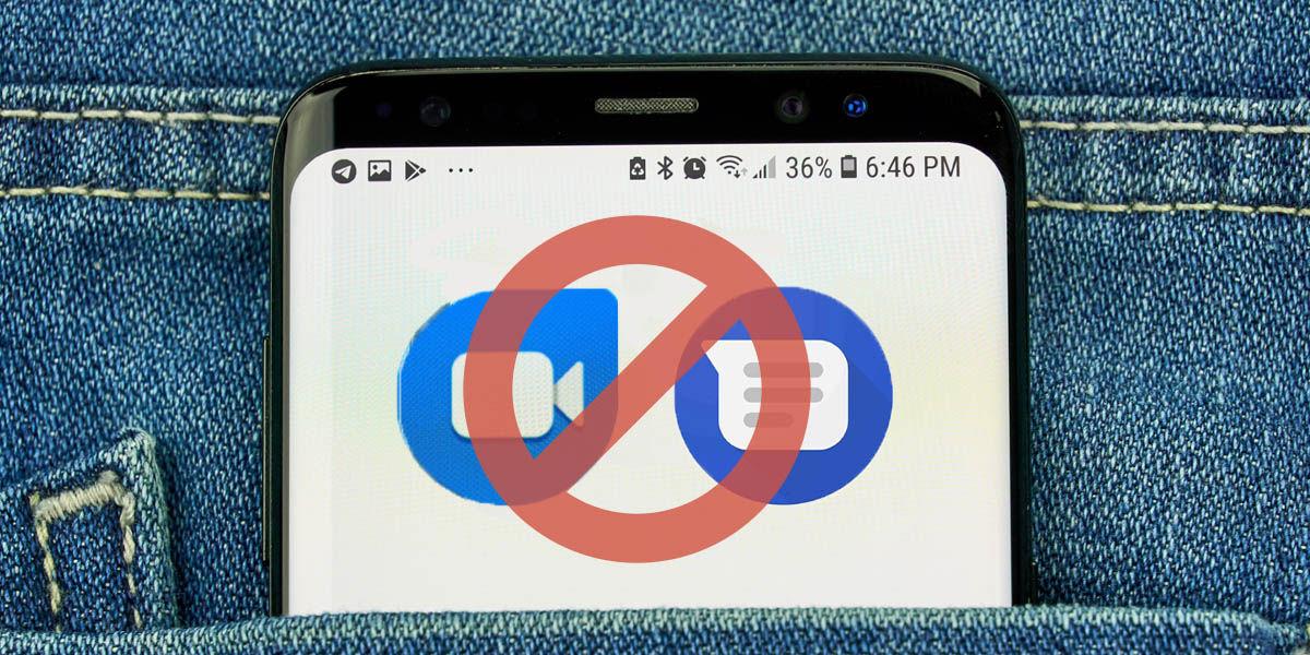 mensajes y google duo bloqueados móviles no certificados