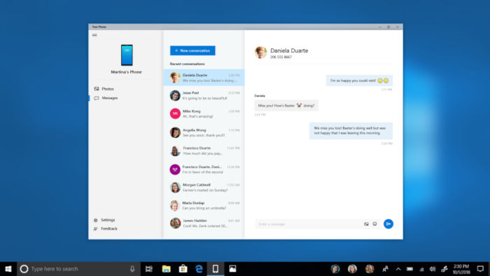 Microsoft Your Phone para Android y Windows 10