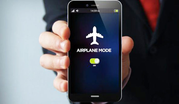 modo avion pára grabar videos