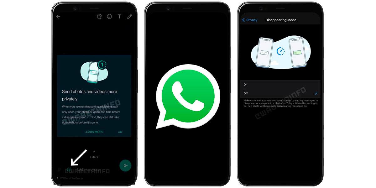 modo desaparición mensajes una vez whatsapp