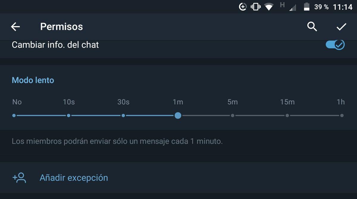 modo lento telegram