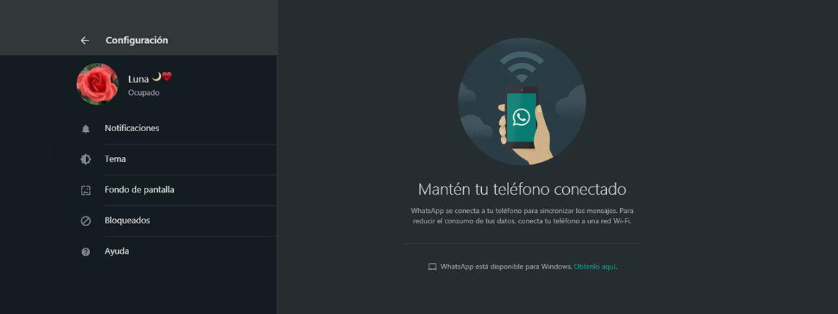 Activa el modo oscuro de Whatsapp Web sin hacer trucos