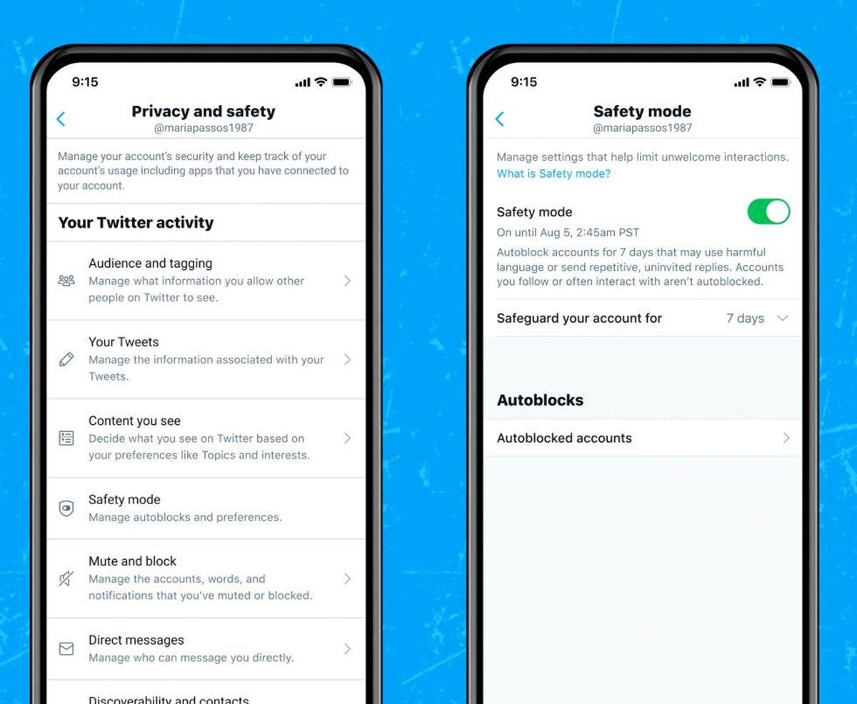 modo seguro de twitter