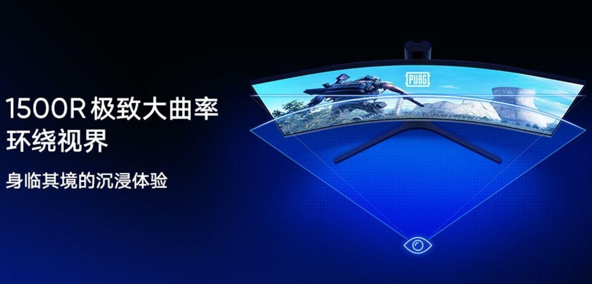 monitor gaming curvo de xiaomi
