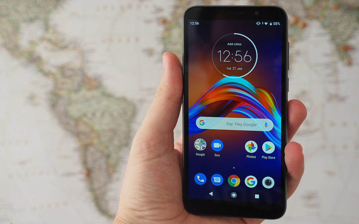 moto e6 play smartphone barato android stock