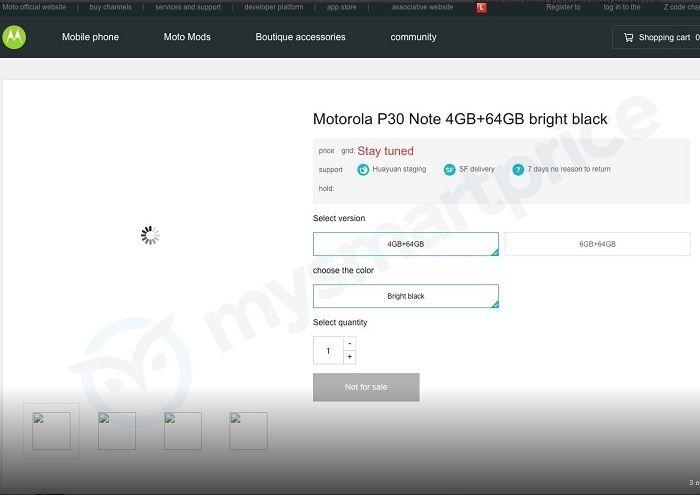 Motorola Moto P especificaciones filtradas