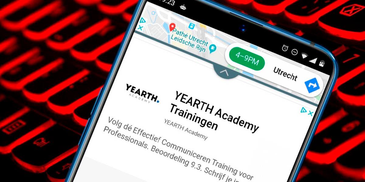móvil android con publicidad invasiva