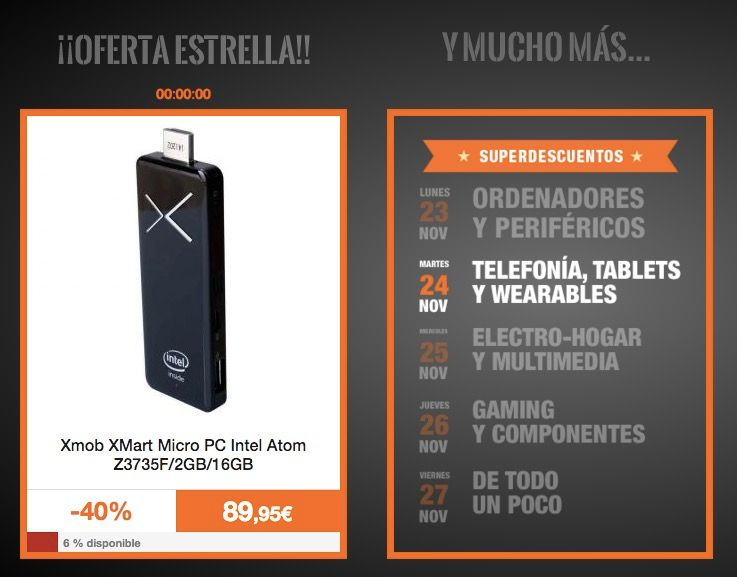moviles tablets y wearables pc componentes black friday