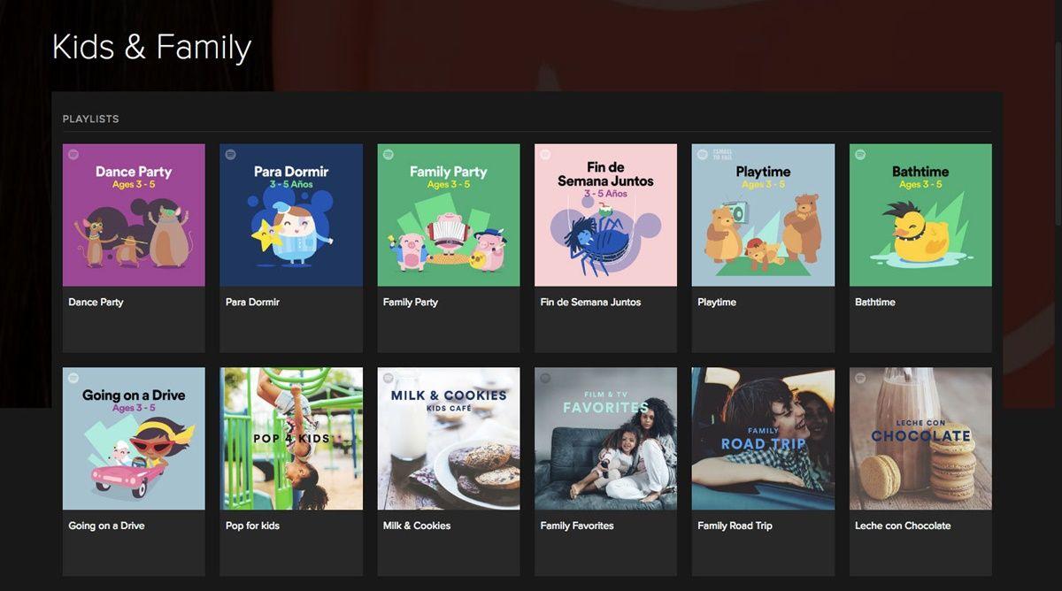 histórias de música spotify kids
