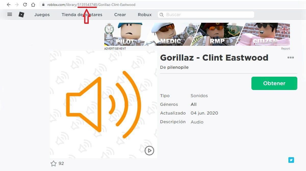 musica roblox menu ID buscador