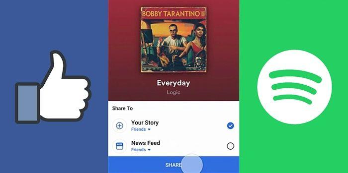 musica spotify en historias de facebook