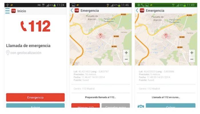 my112 app oficial de emergencias en Espana