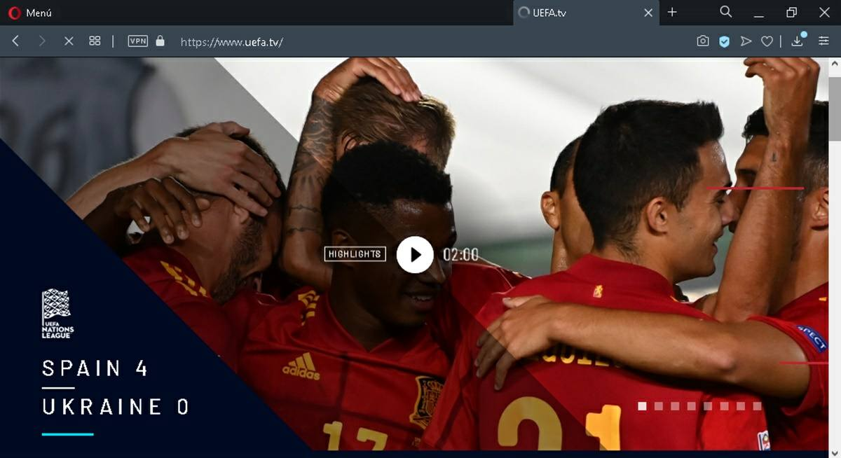 nations league en vivo y gratis por uefa tv