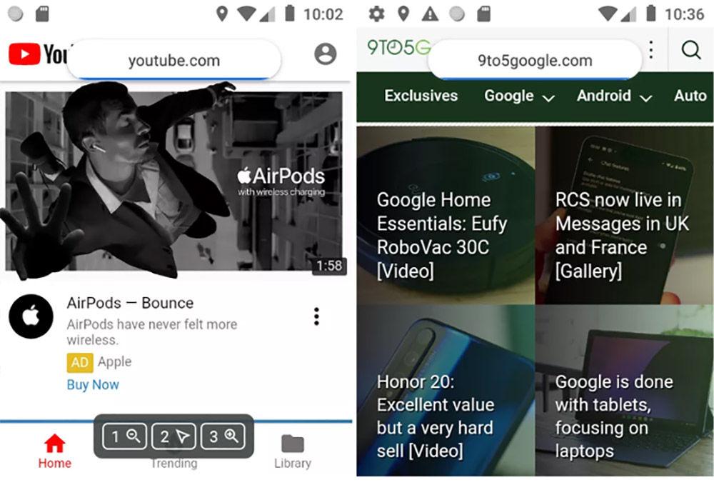 navegacion android sin pantalla tactil
