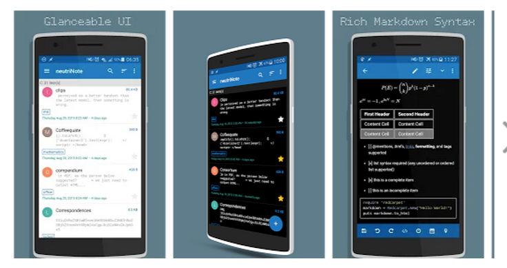 neutriNote: editor de LaTeX y Markdown para Android