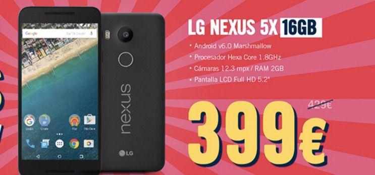 nexus 5x 399 euros