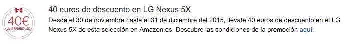 nexus 5x barato amazon