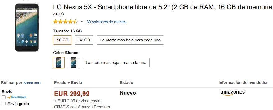 nexus 5x sigue bajando de precio en espana