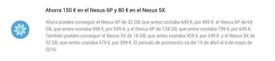nexus 6p 499 euros