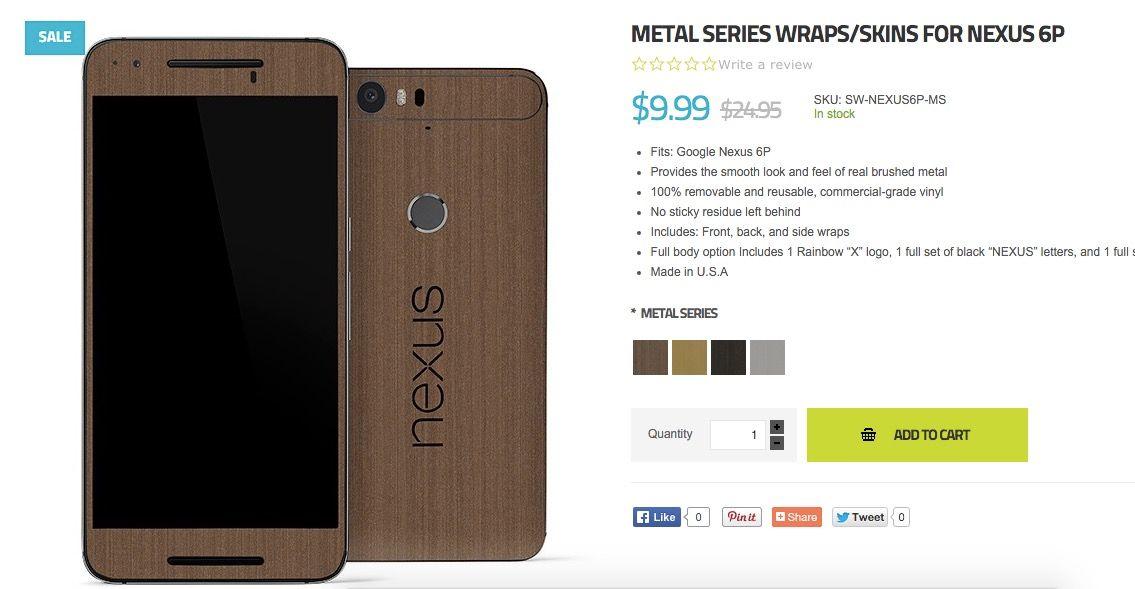 nexus 6p skin madera