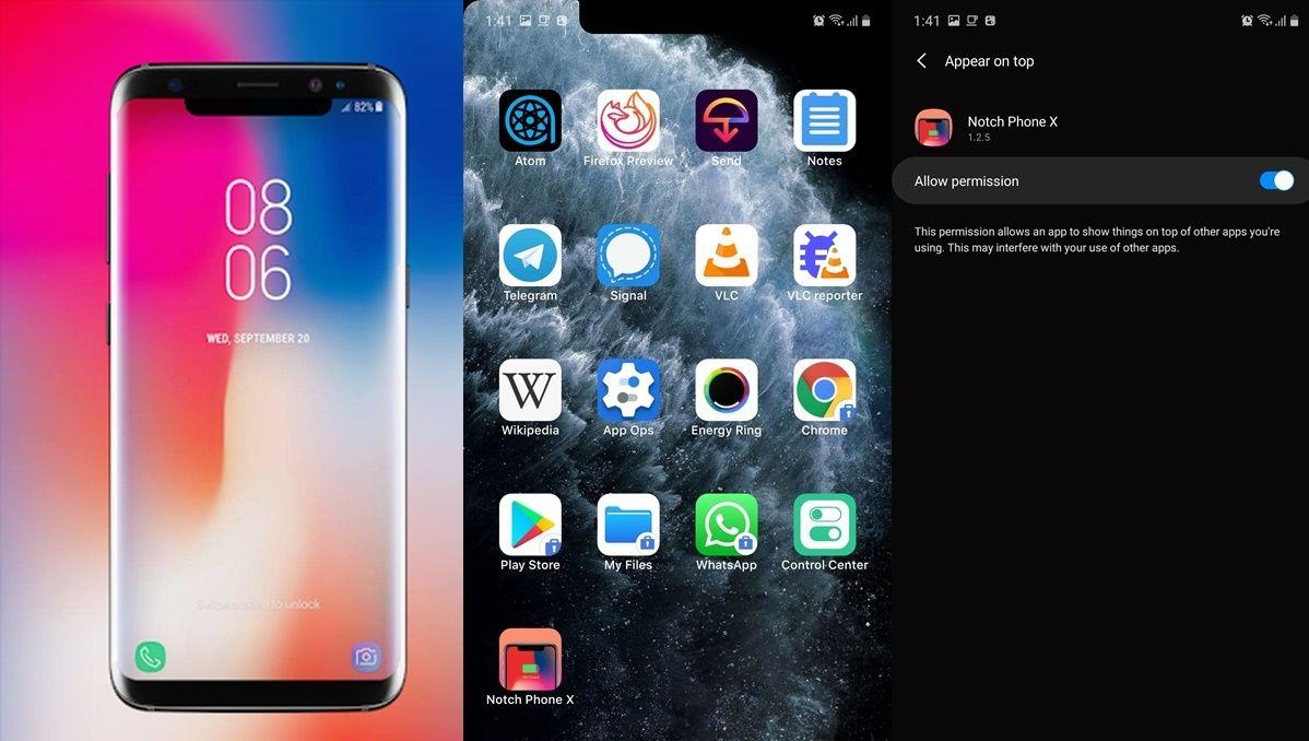 notch de iphone para android