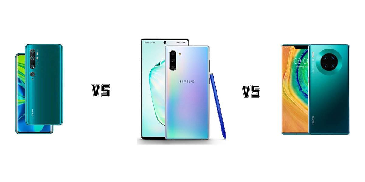 note 10 pro vs mate 30 pro vs galaxy note 10