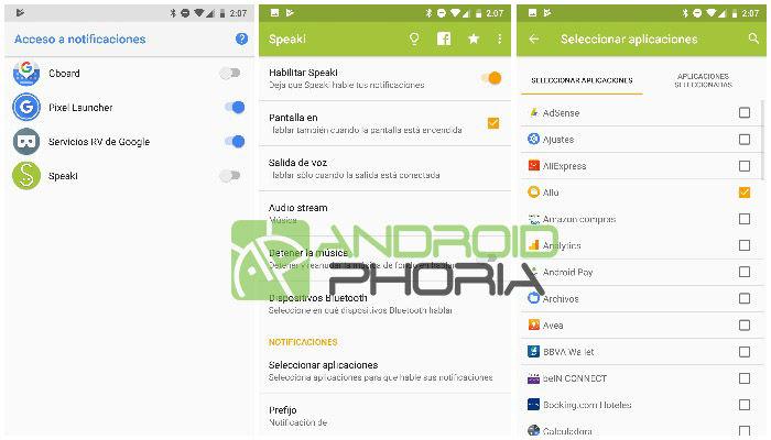 notificaciones habladas android