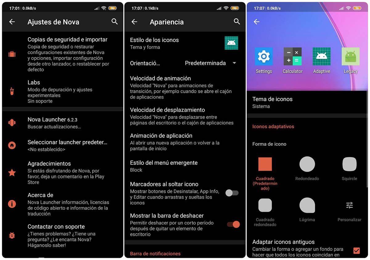 nova launcher editar apariencia de aplicaciones