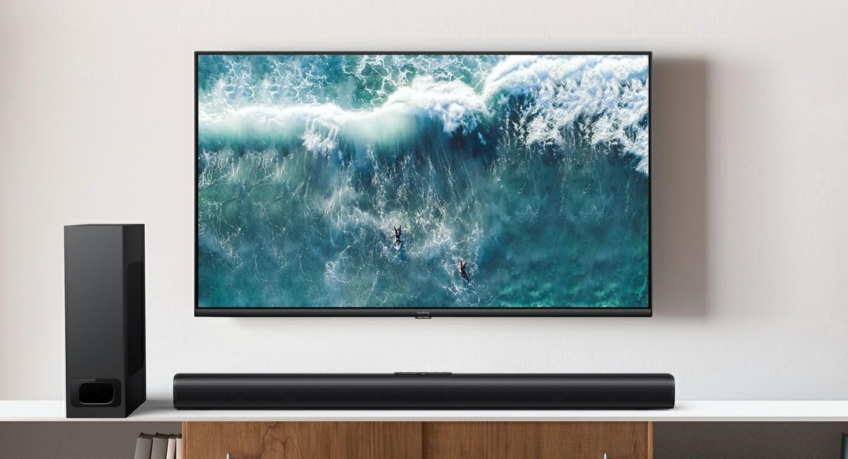 nueva barra de sonido y smart tv sled 4k realme