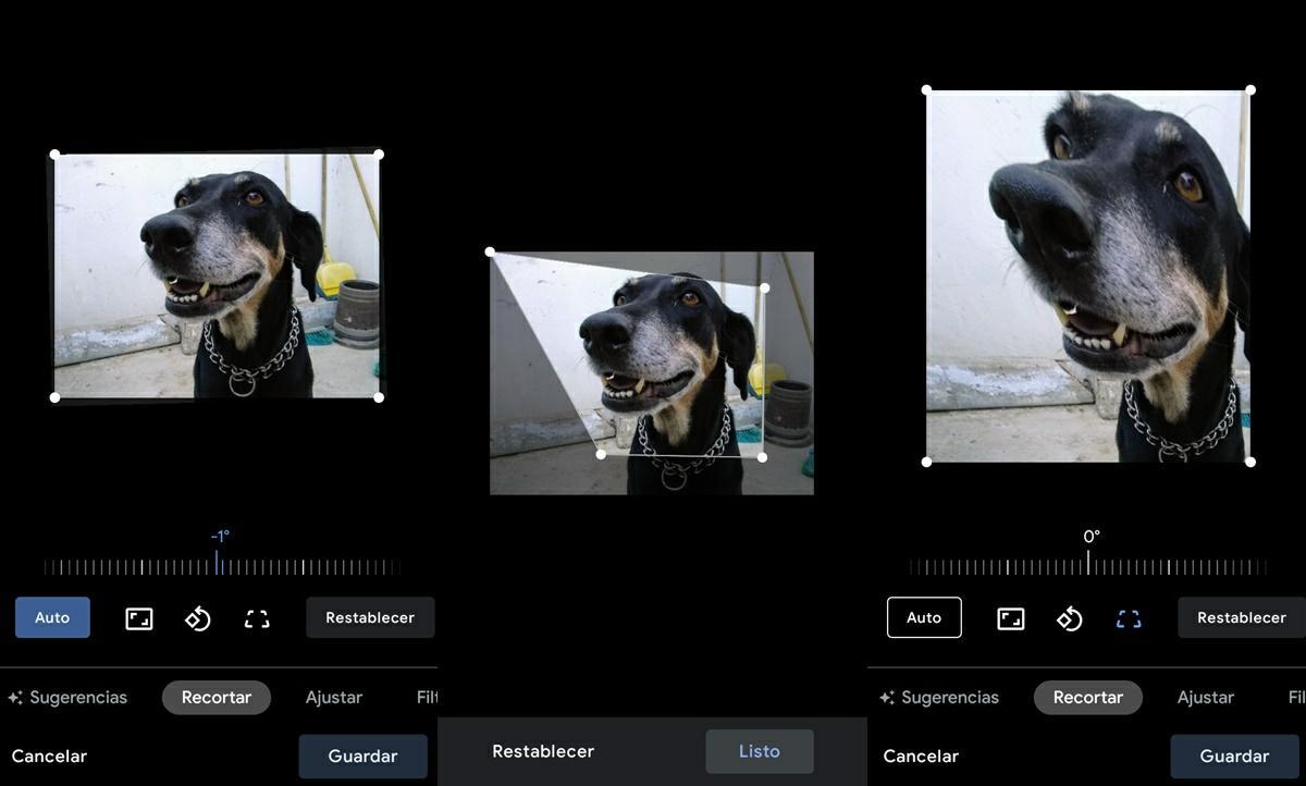 nueva herramienta recortar google fotos