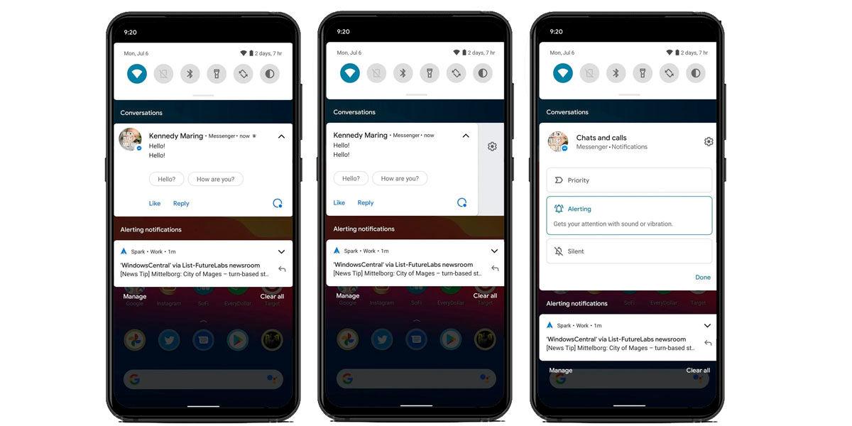 nuevas notificaciones android 11
